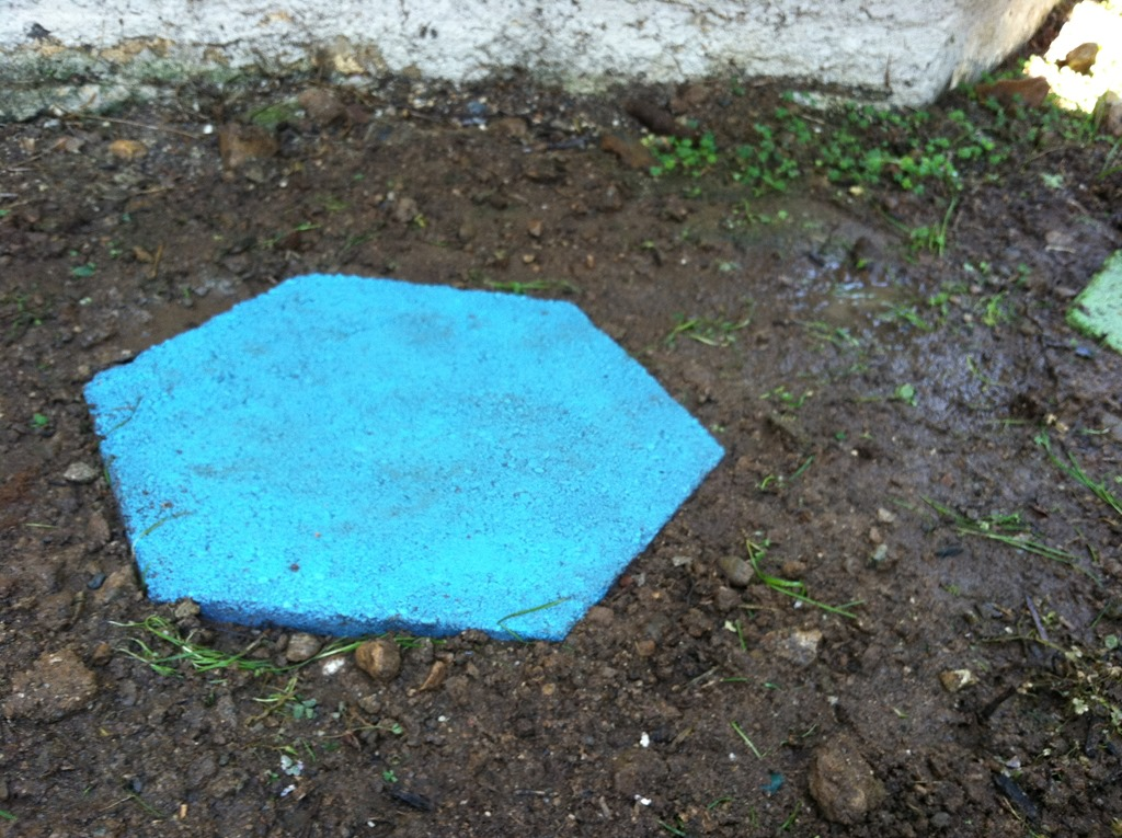 Spray Painted Stepping Stones Stepping Stones