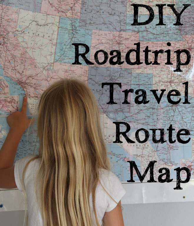 DIY Roadtrip Travel Route Map keeping your memories alive – Trip Route Map