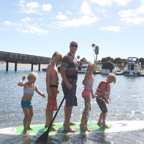 Family Paddle Board time