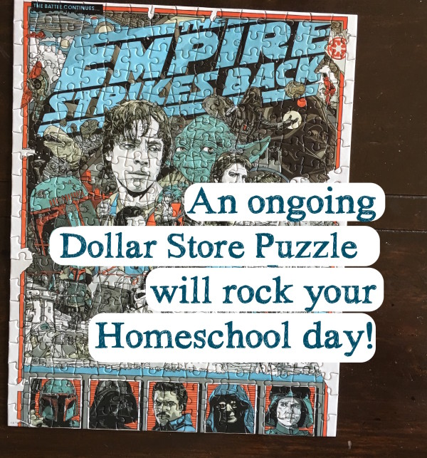 dollar store puzzle for homeschool