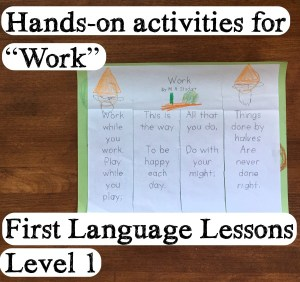 First Language Lessons for the Well-Trained Mind – Work enrichment activity