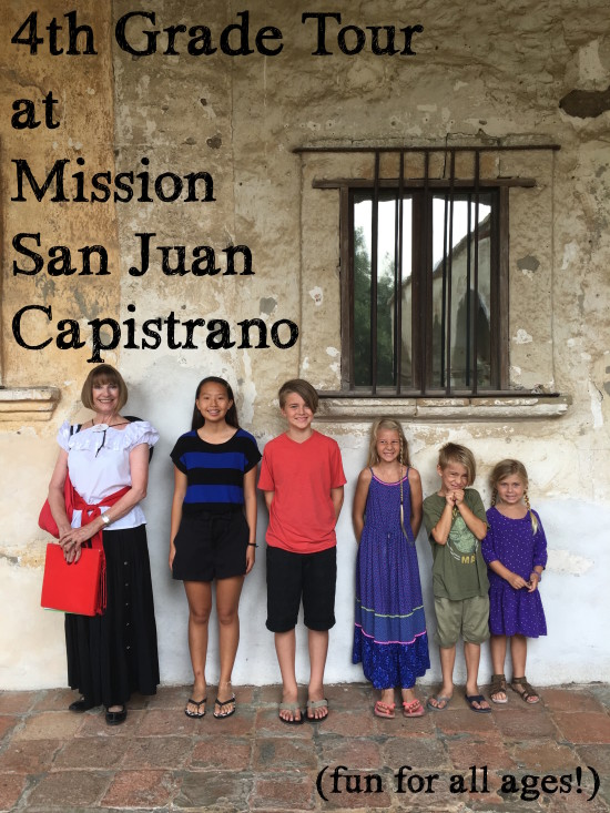 4th grade tour at the mission