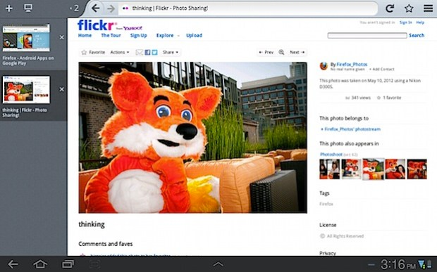 Firefox tablets android
