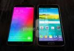 Samsung Galaxy F / S5 Prime posa en foto comparado con el Galaxy S5