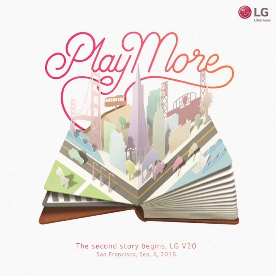 LG anunciará al LG V20 el seis de septiembre