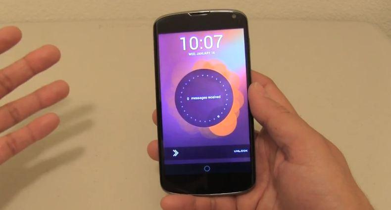 ubunut phone os mod screenshot