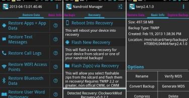 Nandroid Manager Screenshots