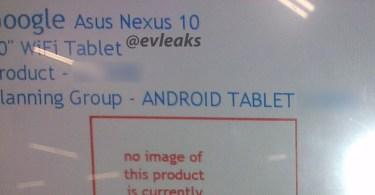 nexus 10 evleaks