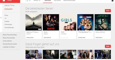 google play filme serien
