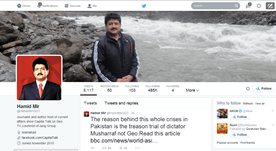 Hamid Mir famous Pakistani social media icon