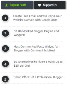 popular post widget on blogs