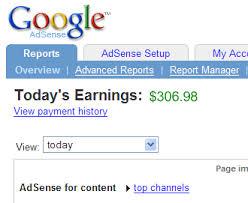 Lie about Google adsense earning