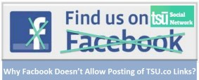 Why Facbook Doesn't Allow Posting of TSU.co Links
