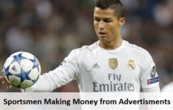 sportsmen making money from advertisments