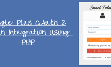 Google Plus OAuth 2 Login Integration Using PHP