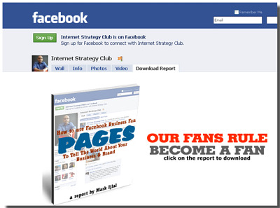 customizing facebook business fan landing pages