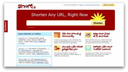 Short.ie Twitter tool