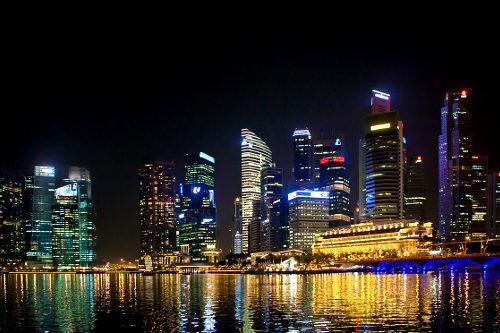 Commercial district Singapore