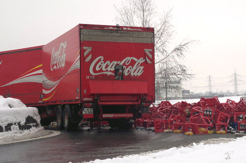 Coca-cola truck accident
