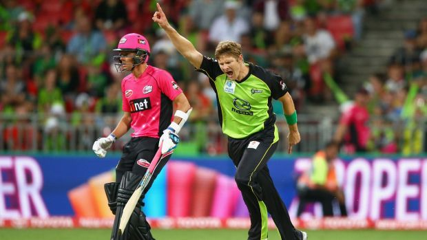 Out of action: Shane Watson suffered a calf strain during the Thunder's pre-season trip to Christchurch.