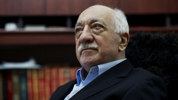 Turkish Muslim cleric Fethullah Gulen at his residence in Saylorsburg, Pennsylvania in 2014.