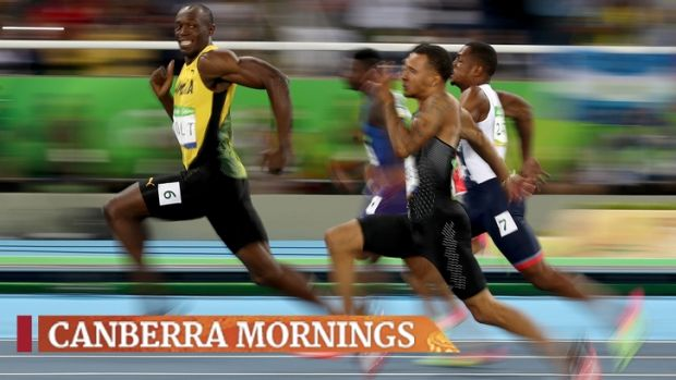 A photo of a smiling Usain Bolt taken by an Australian photographer has gone viral.