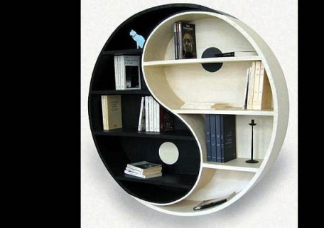 Cardboard Yin Yang BookShelf