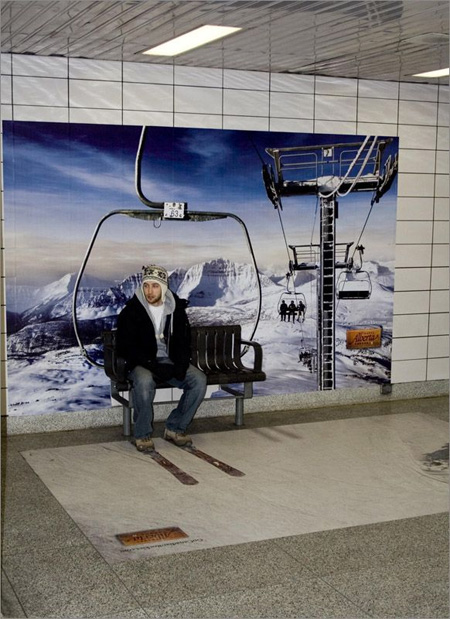 Travel Alberta Bench Advertisement