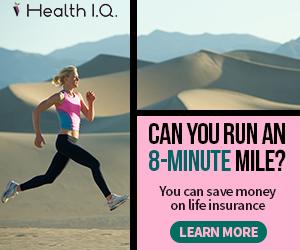 Health IQ banner ad design example