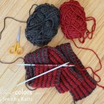 Brioche stitch scarf