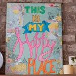 Happy Place: A mixed media tutorial