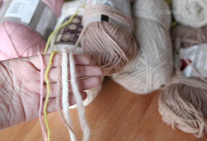 Yarn wool strands texture