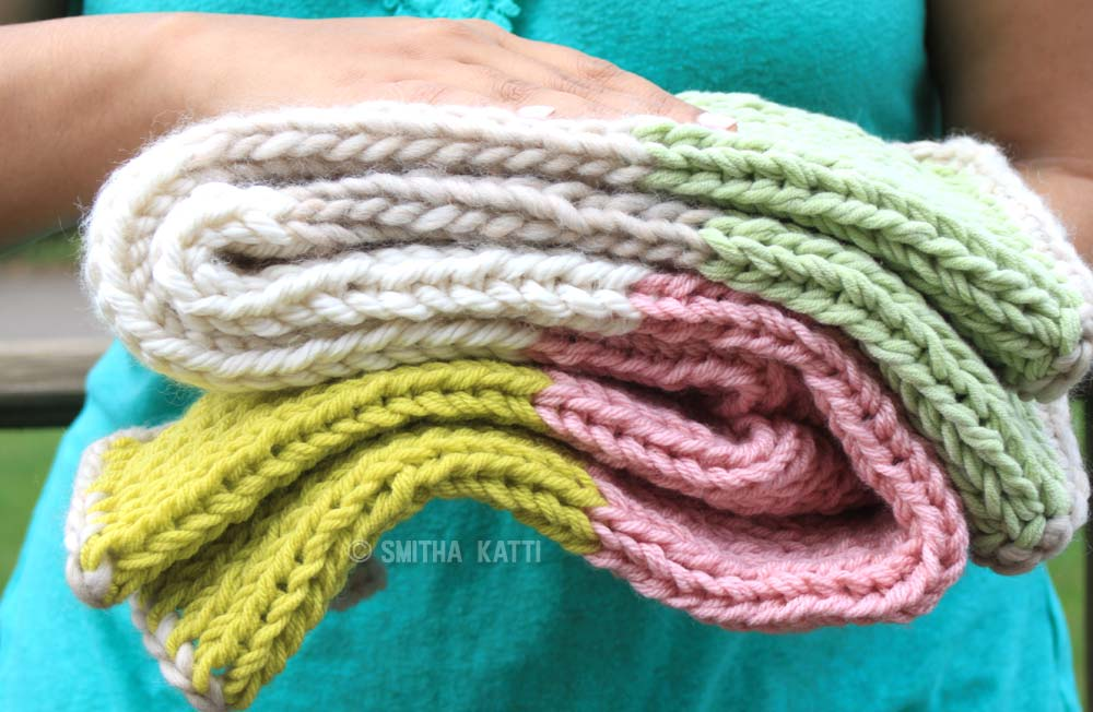 Yarn stash busting projects: The 10 day quick knit