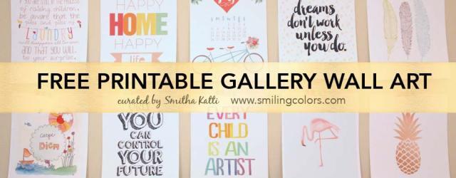 free printable gallery wall art