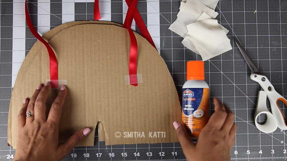 how to make apple costume using cardboard