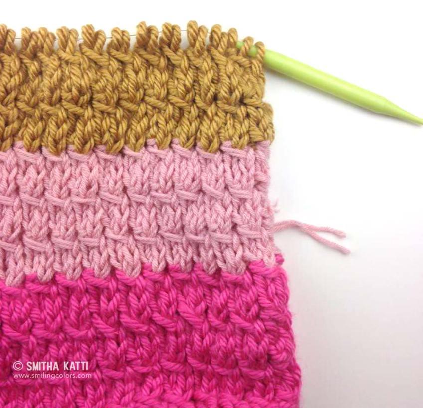 slant stitch free pattern knit