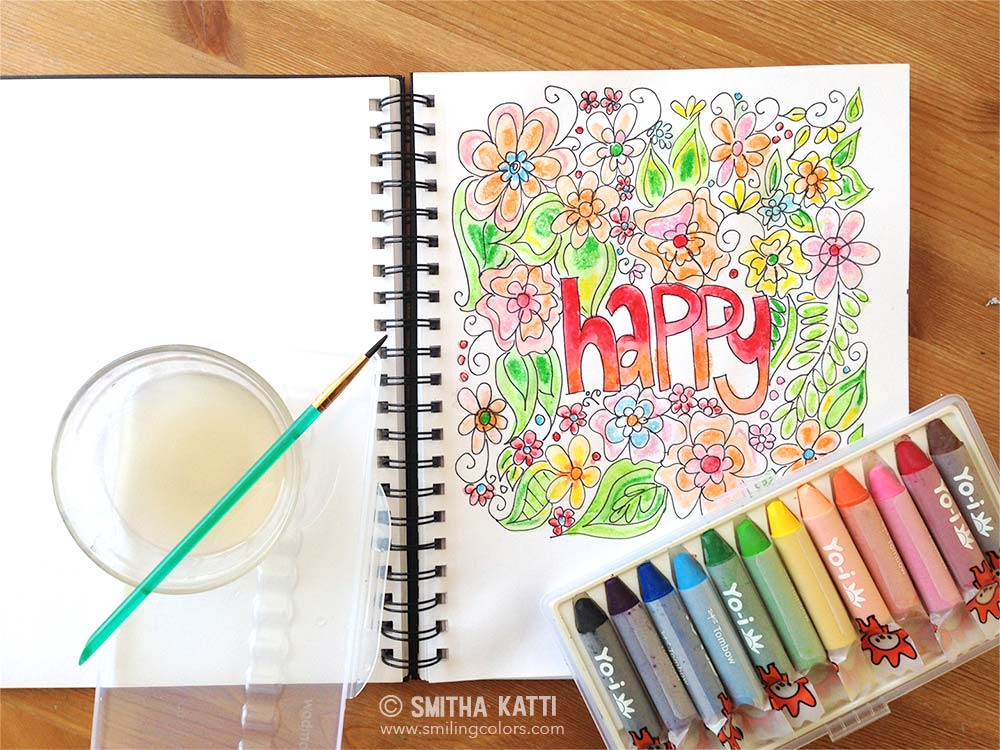 How to use watercolor crayons video