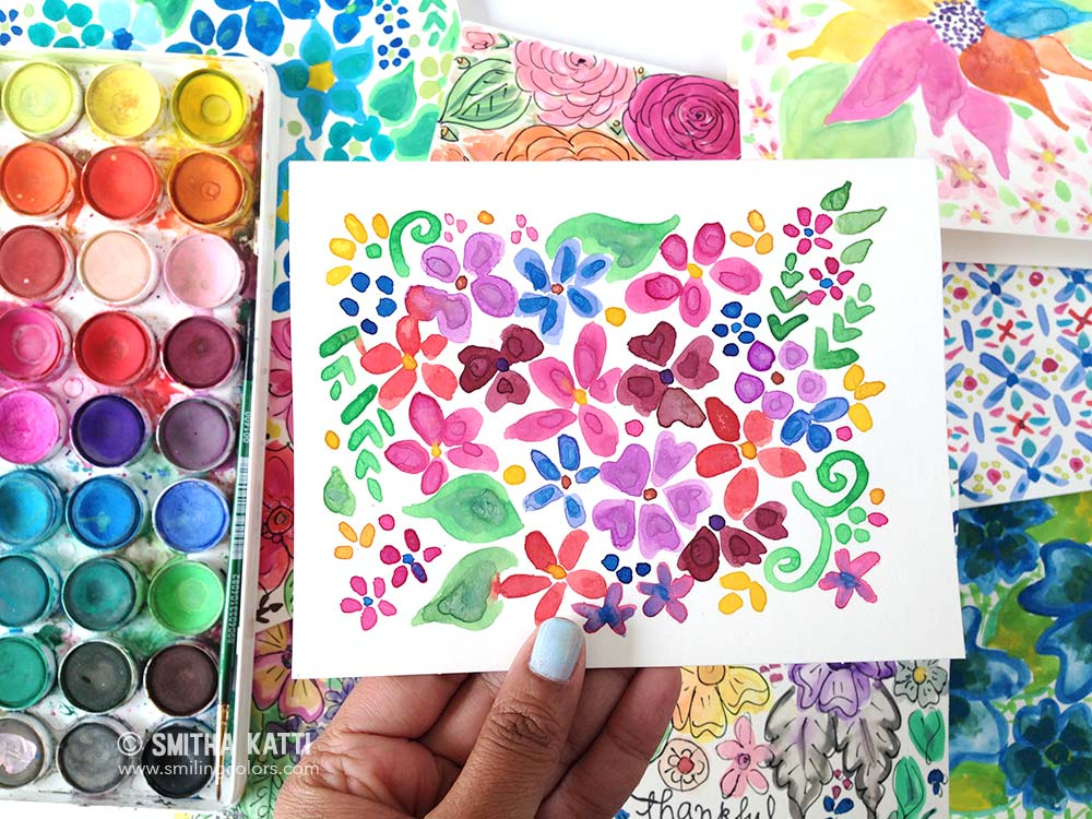 The 100 day project: Watercoloring