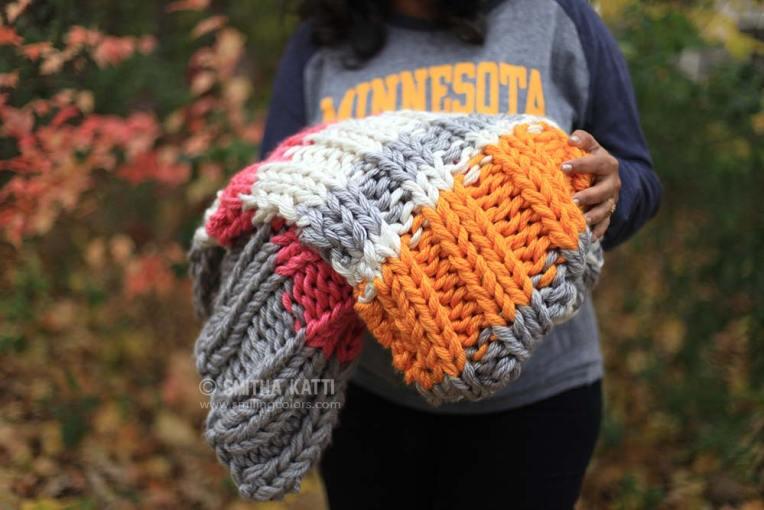 Bulky knit blanket free pattern
