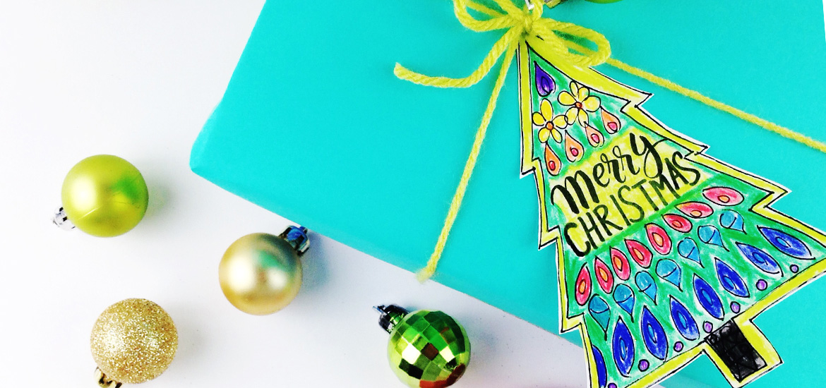 free coloring holiday gift tags