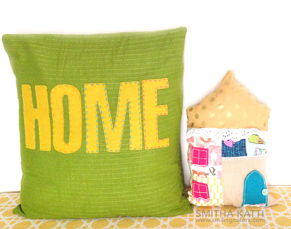 Scrap Fabric DIY pillow with Video tutorial