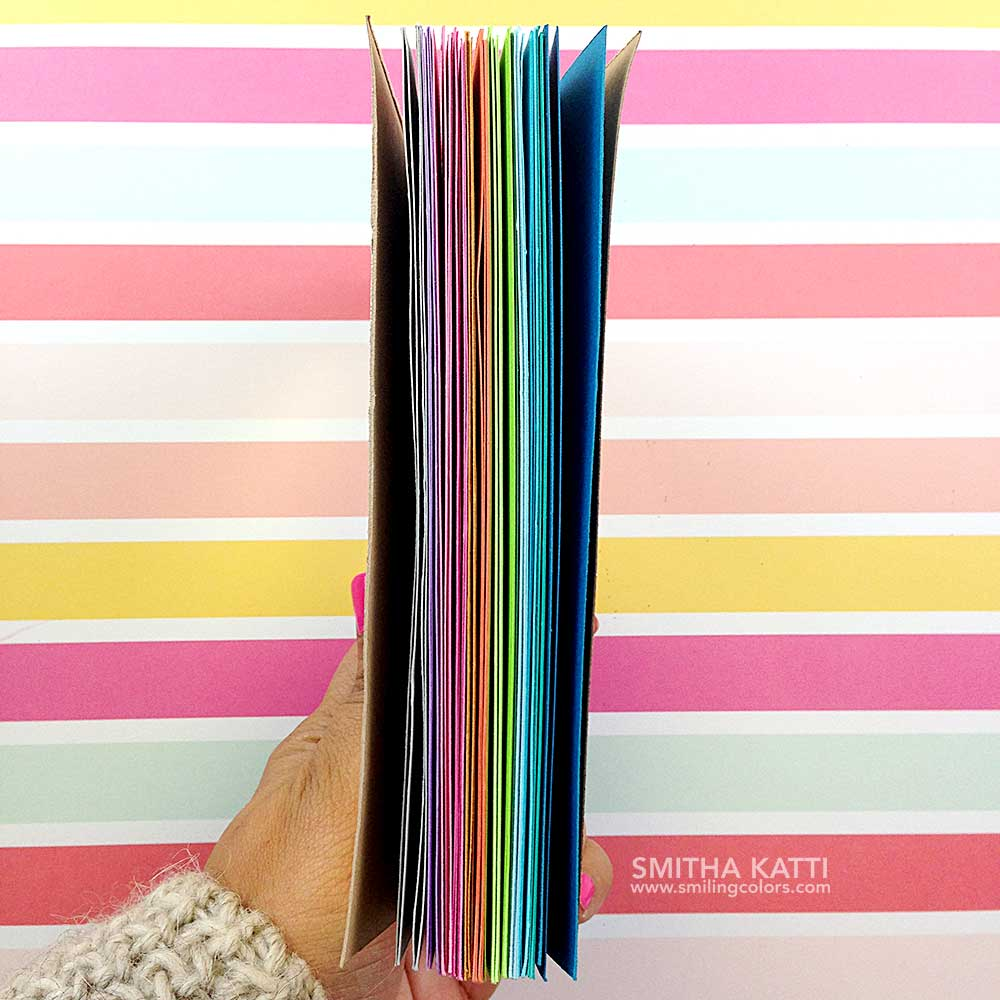 How To Make A Rainbow Book Cover ~ Diy hot glue book binding with video tutorial smiling colors