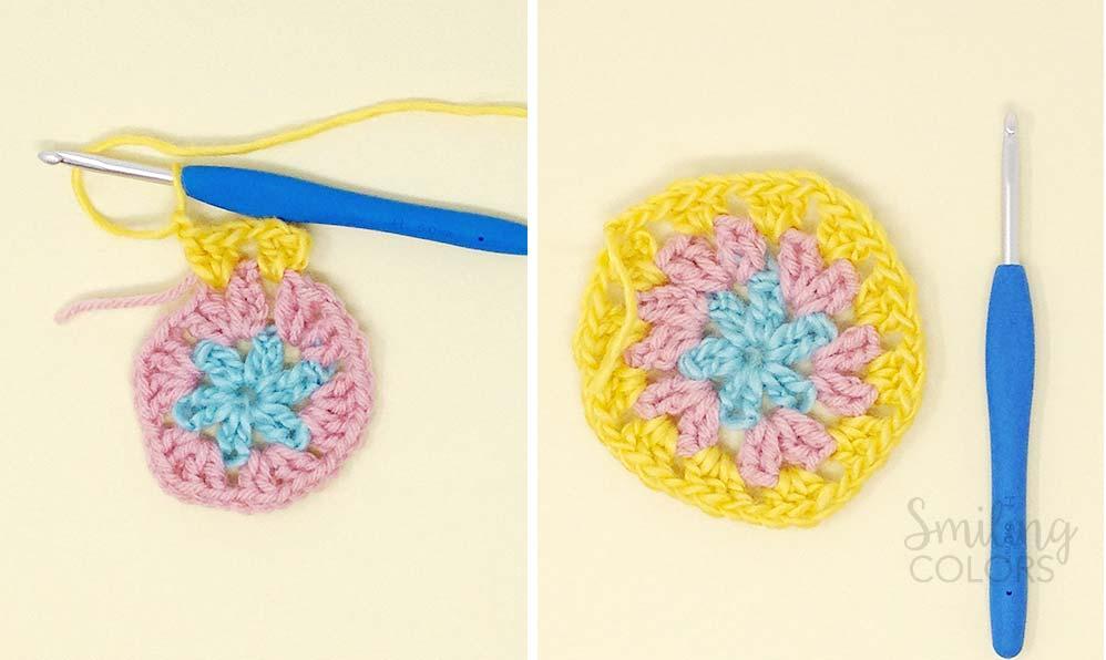 crochet granny circle