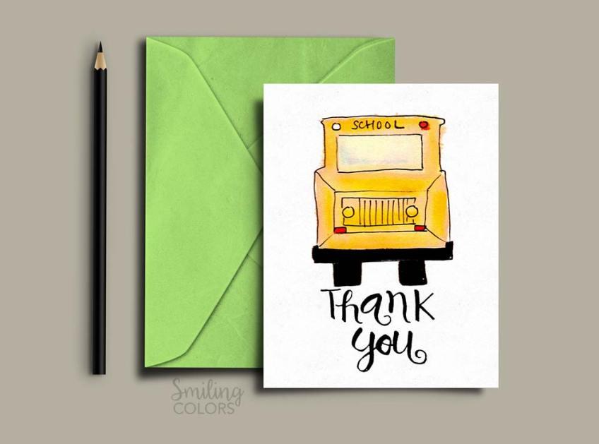 bus driver thank you printable
