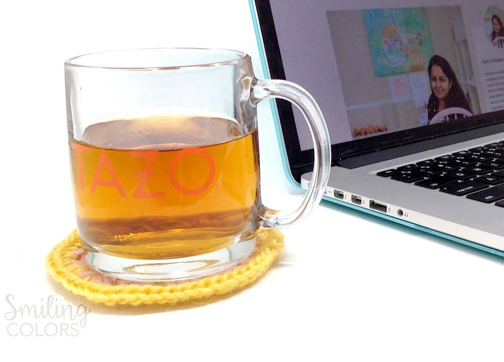 tazo crochet coaster