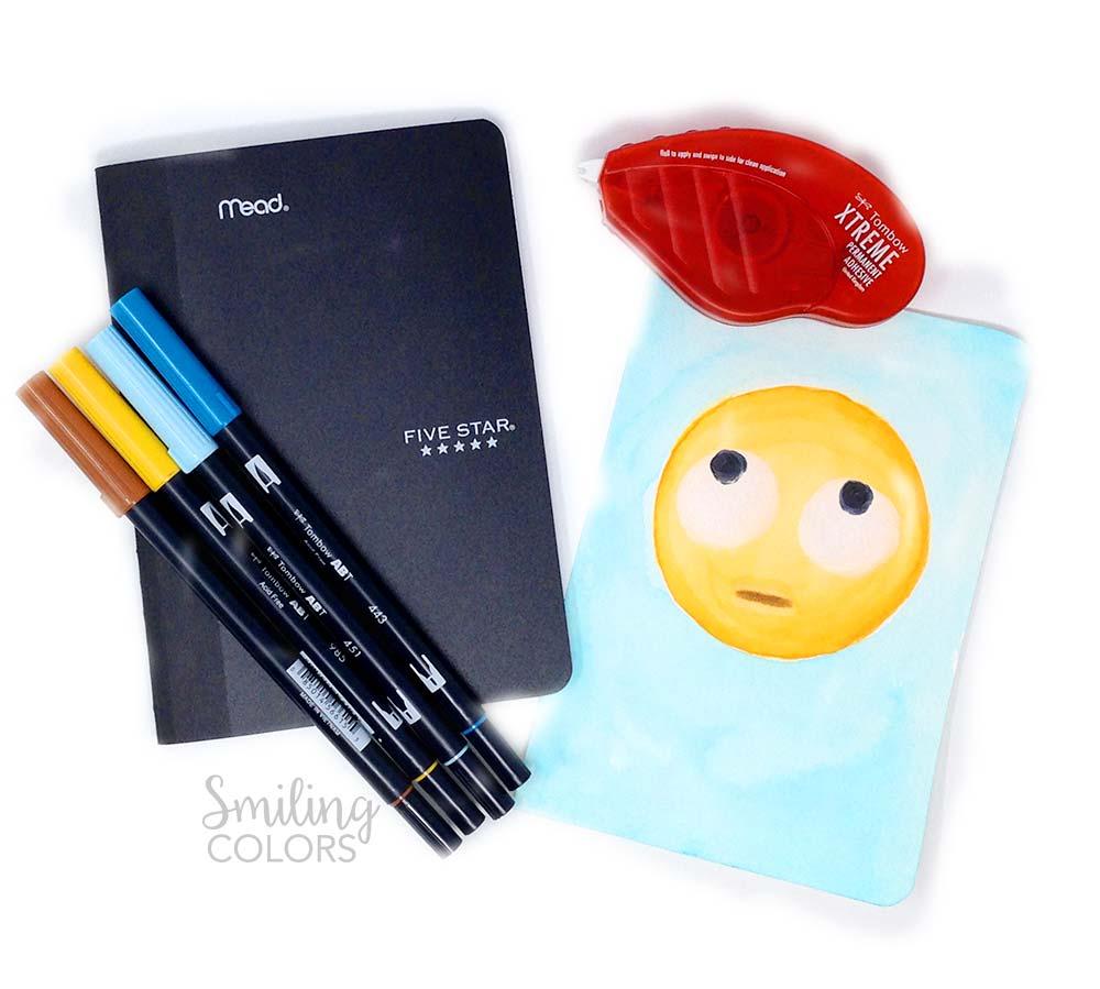 DIY emoji notebook cover video