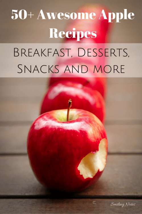 Awesome apple Recipes to try out this Fall! From breakfast to desserts, snacks to dinner, we have covered it all! This post also has fun activities and DIY crafts that you can do with apples. #SoFabSeasons