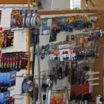 Fishing lines and assorted boat repair supplies