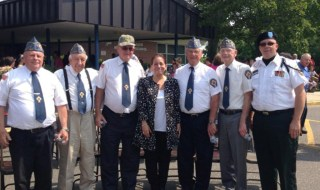 Legislator Leslie Kennedy with the Catholic War Veterans of VFW Post 4927
