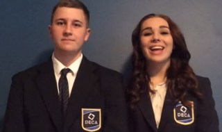 DECA members, Jainee Gabrielsen and Ryan Micozzi are finalists in this year's Herff Jones Marketing Results Challenge